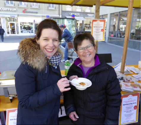 World kidney day 12 March: Cooking event on the Waisenhausplatz in Bern