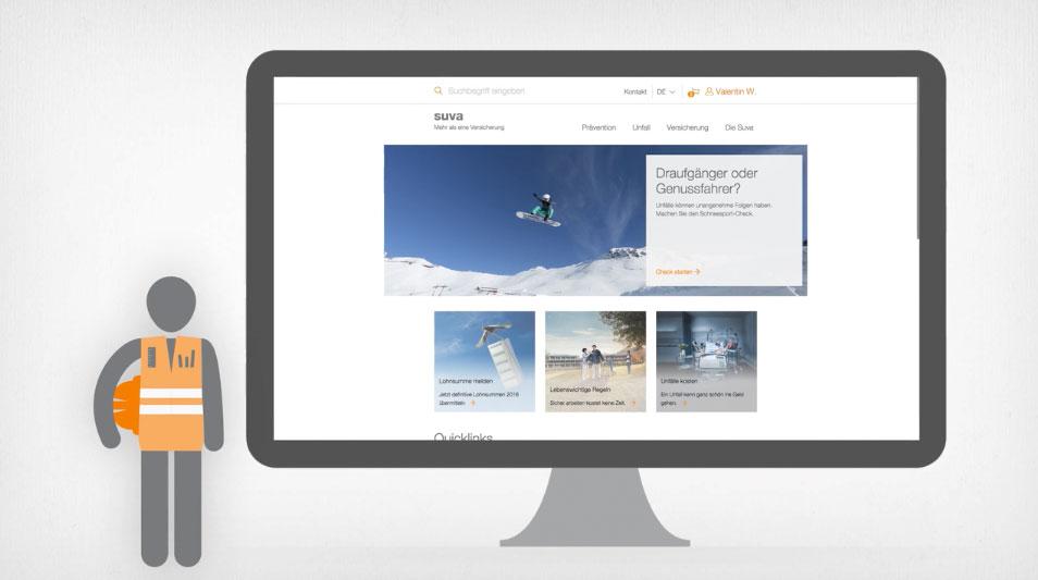 Die neue Website der Suva ist online
