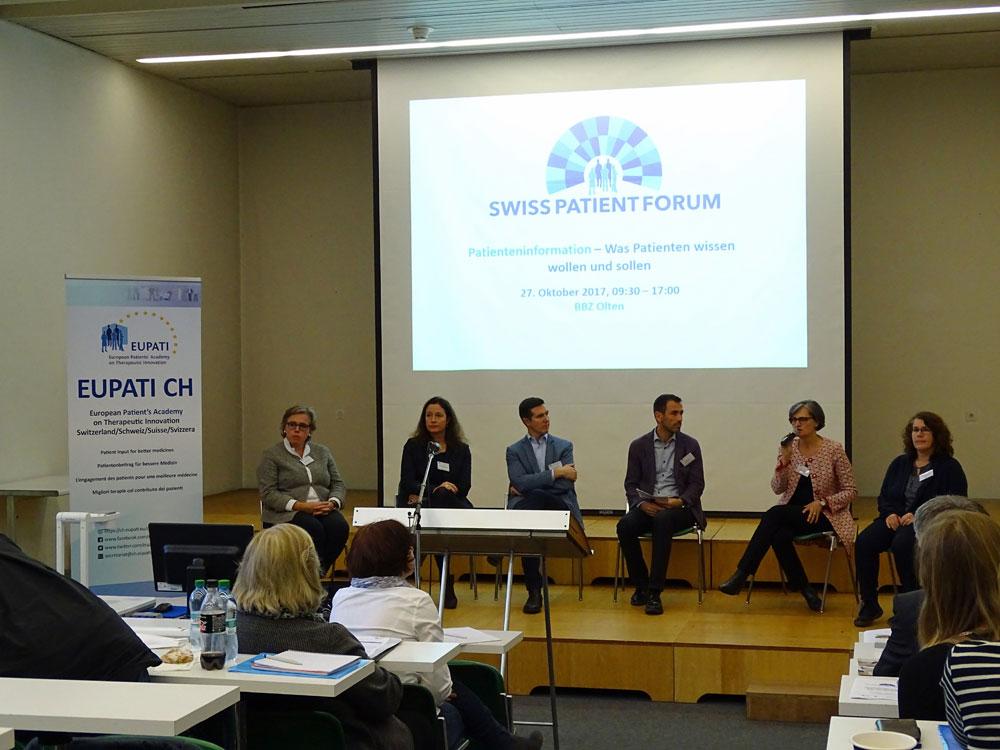 Podiumsdiskussion Swiss Patient Forum