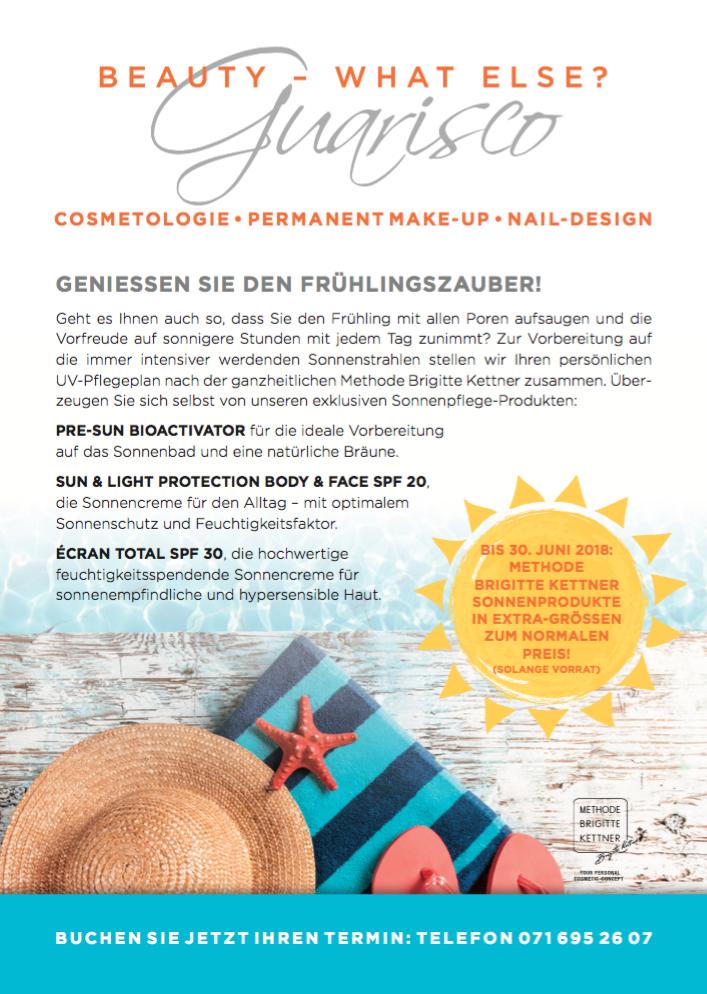 Newsletter im Kosmetikbereich