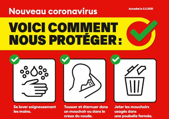 Le point sur le coronavirus