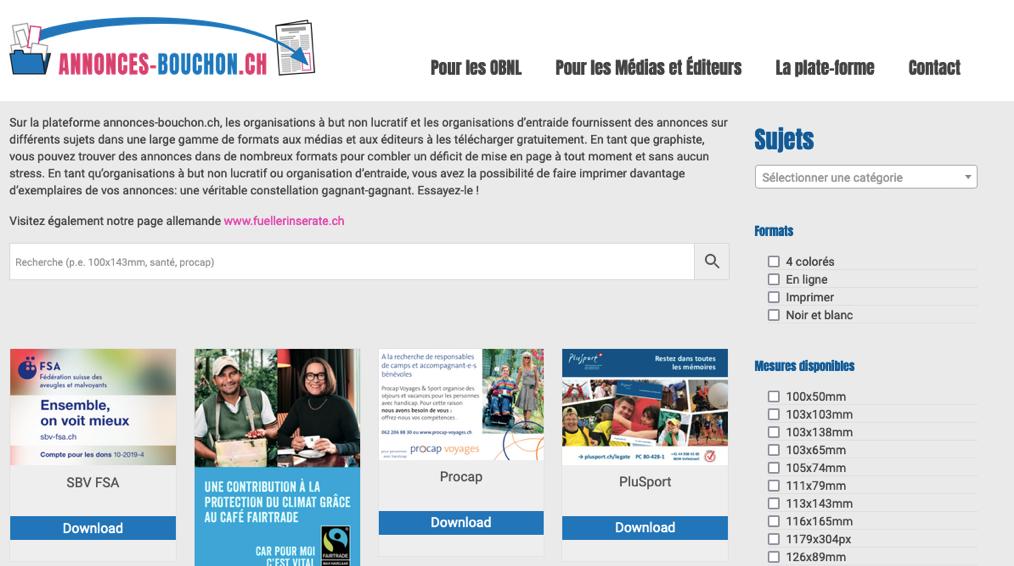 Filler advert platform expands to French-speaking Switzerland